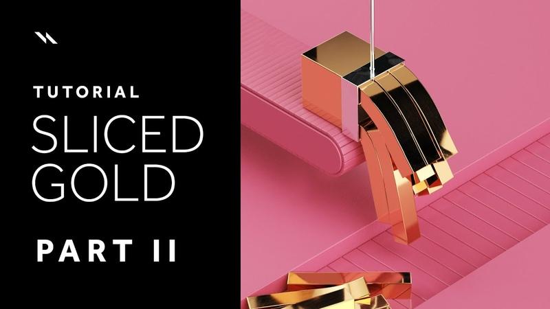Sliced Gold | Cinema 4D tutorial - Part II