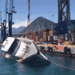 A yacht's anti-capsizing test for rough seas - Create, Discover and Share Awesome GIFs on Gfycat