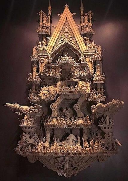 Скульптура от настоящего поклонника Звездных войн Тату-мастер Jason Stieva (Джейсон Стиева) почти 20 лет работает в технике ассамбляж, расширяя свое творчество за пределы полотна в трехмерное