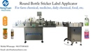 Round Bottle Sticker Label Applicator Applied for Small Bottles With Bottle Turntable Collector