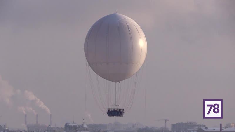 Воздушный шар на Пироговской набережной