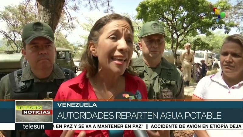 Gobierno venezolano entrega agua a hospitales por corte eléctrico
