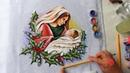 Maria e Jesus em Tecido (Aula 99)