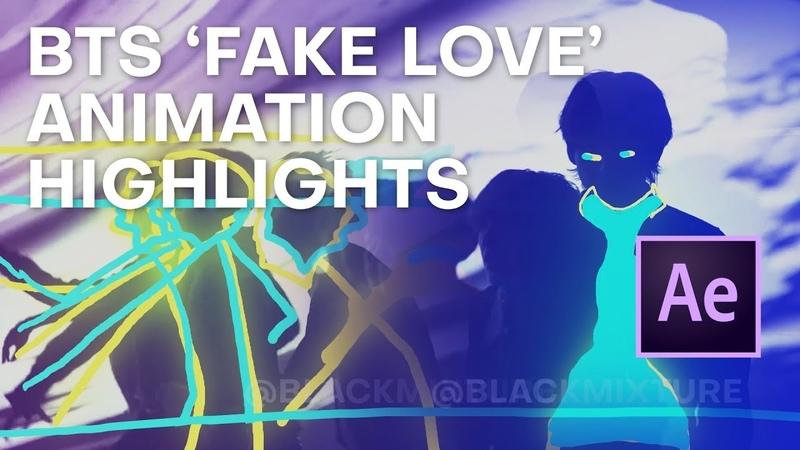 BTS (방탄소년단) FAKE LOVE MV SPEEDPAINT ANIMATION PROCESS HIGHLIGHTS