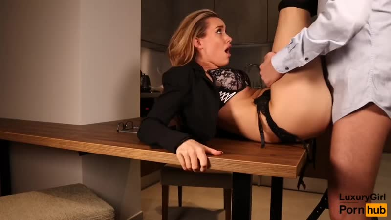 Sexy Secretary Fucked On The Table. Blowjob And Sex In Stockings
