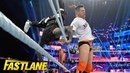 BMBA The Miz sends both Usos flying from the ring WWE Fastlane 2019 WWE Network Exclusive