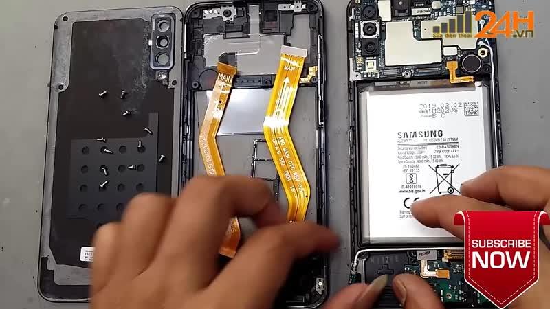 [ Suadienthoai24h.vn ] Hướng dẫn thay cảm biến vân tay Samsung Galaxy A50 chính hãng tại Hà Nội đến Tphcm