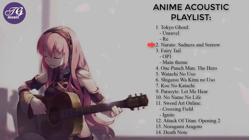 Best of Anime Acoustic Guitar Cover - Anime guitar 01
