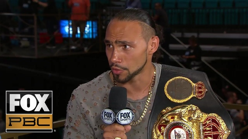 Keith Thurman joins PBC on FOX 'I'm living the dream can't take that away from me' PBC ON FOX