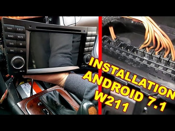 Mercedes W211 Detailed Installation Android 7.1 Radio DVD COMAND CANBUS (Wheel buttons) Decoder