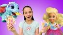 Куклы Барби Челси и волшебное мороженое. Видео для девочек.