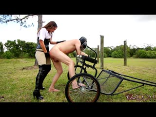[clubdom] kendra heart plow the man pussy(strapon,slave,outdoors femdom,kinky, bdsm,pegging)