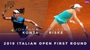 Johanna Konta vs. Alison Riske | 2019 Italian Open First Round | WTA Highlights