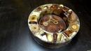 Заливка эпоксидной смолой чаши из торцевых спилов №1 иванбаев 'эпоксидка станкииванабаева