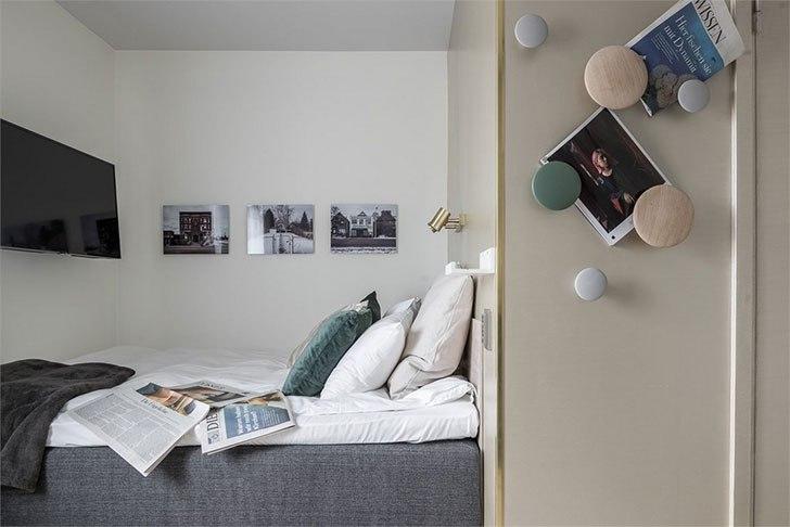 Интересный вариант дизайна маленькой квартиры