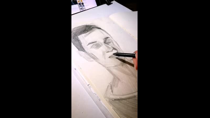 портрет карандашом по новому Linia