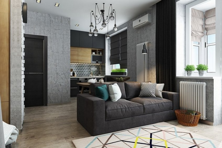 Маленькая квартира с замечательным интерьером