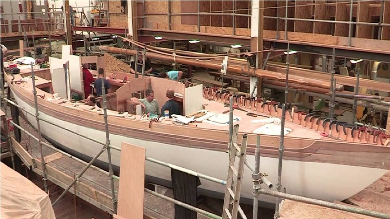 Video of Wooden Boat Build Process Modern Technology