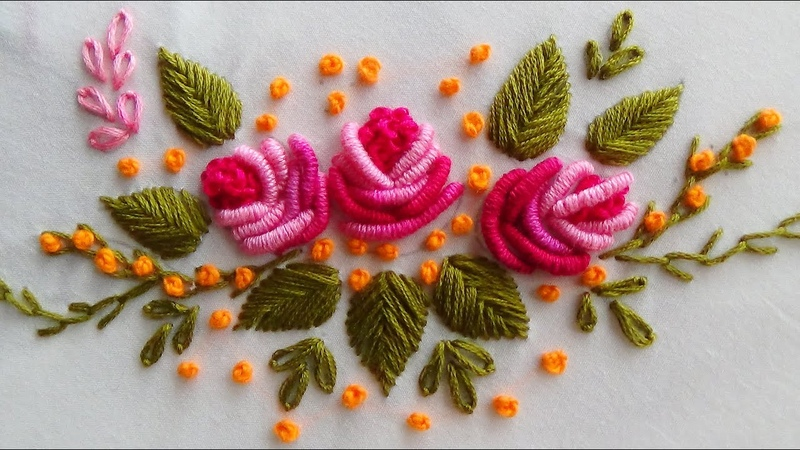 Hand Embroidery Brazilian EmbroideryBullion knot