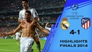 Real Madrid vs Atletico Madrid 4-1 UEFA Champions League Finals 2014 (All Goals Highlights) HD