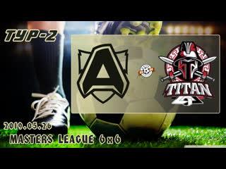 Альянс v/s титан 2 (2 тур). football masters league 6x6. full hd. 2019.05.26