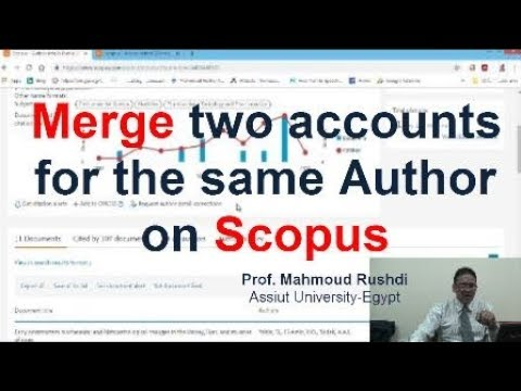 Merge two account for the same author on Scopus (Arabic)