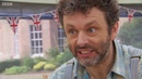 Michael Sheen and Jameela Jamil being a disastrous duo for two minutes.