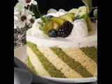 Полосатый йогуртовый торт с киви. / Наша группа в ВКонтакте: