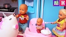 НАДУВАТЕЛЬСТВО С ЕДИНОРОГОМ КАТЯ И МАКС ВЕСЕЛАЯ СЕМЕЙКА мультики с куклами барби