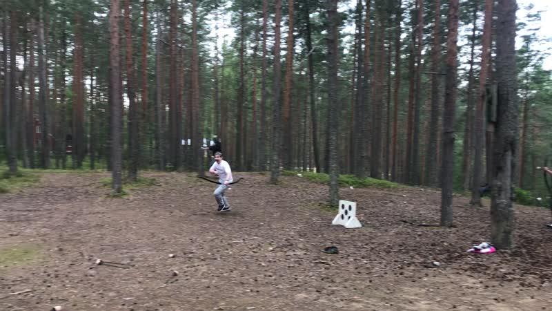 Арчери таг - лучный бой на базе отдыха Журавушка в Ленинградской области