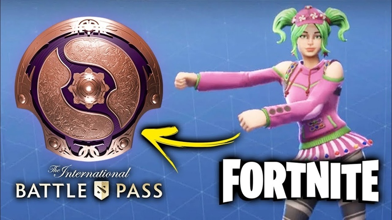 FORTNITE DANCES in DOTA — Battle Pass 2019 TAUNTS