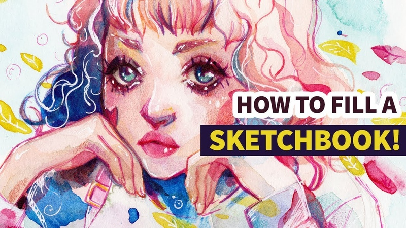 How to fill a sketchbook WATERCOLOR SPEEDPAINT