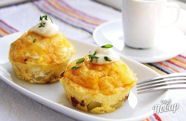 Испанский омлет с картофелем и колбасой