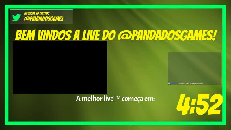 LIVE DO PANDA DOS URSINHOS CARINHOSOS ESO ESOBR TERCASDETRIALS - Stadia demorando pra chegar! : D