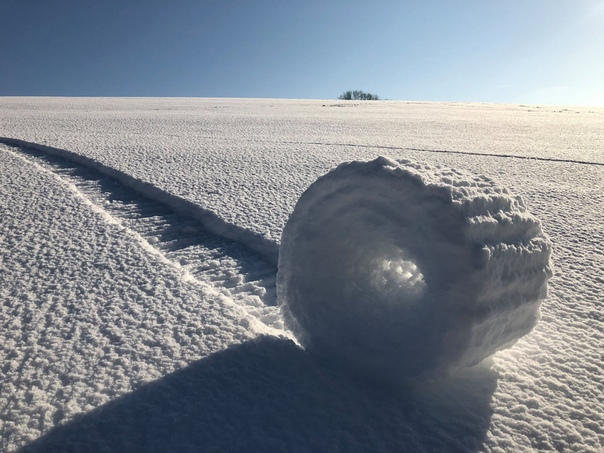 Снежный валик в Уилтшире