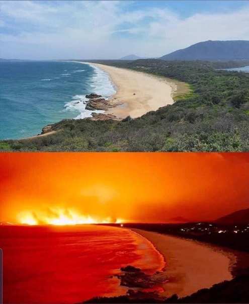 Северное побережье Австралии разницей в 1 неделю