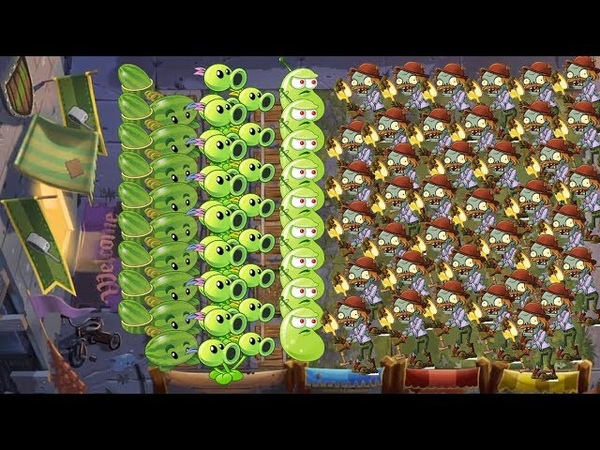 Pvz 2 Battlez - Three Peashooter vs Laser Bean vs Melon Pult