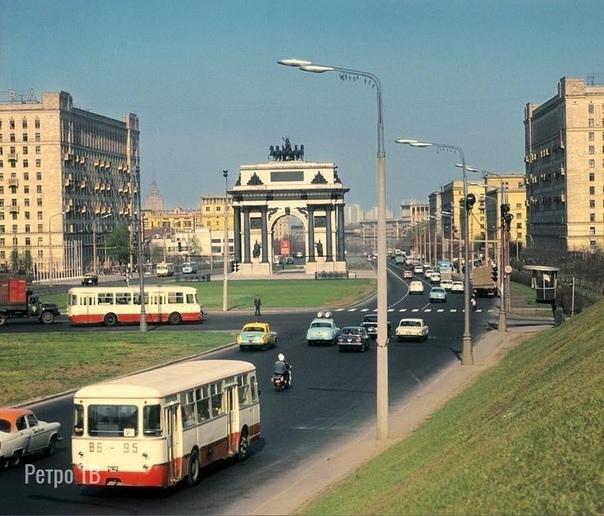 Москва. Кутузовский проспект, 1972 год.