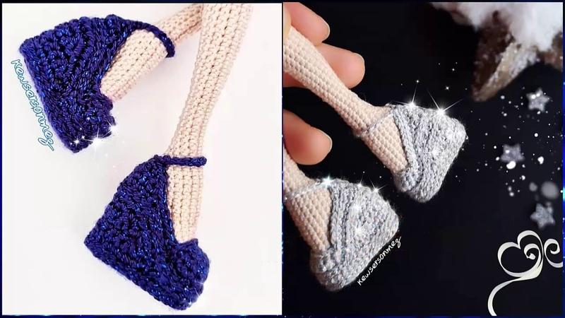 Amigurumi Kapalı Burun Dolgu Topuk Ayakkabı Yapımı How To Make High Hell Shoes