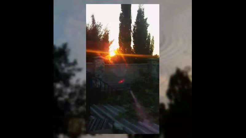Темно-Оранжевый закат~