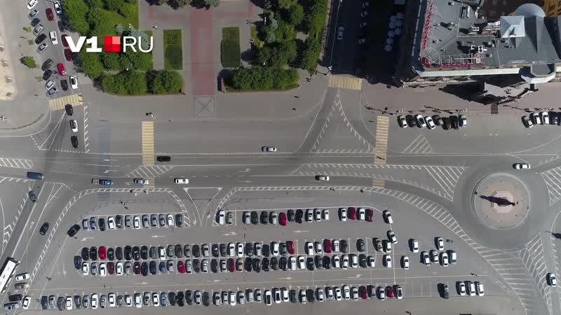 Новая схема движения на площади Павших Борцов