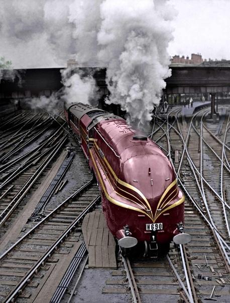 Локомотив LMS Princess Coronation Class (Лондон, 1937год)