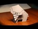 Как сделать слона из бумаги. Оригами слон. elephant origami.