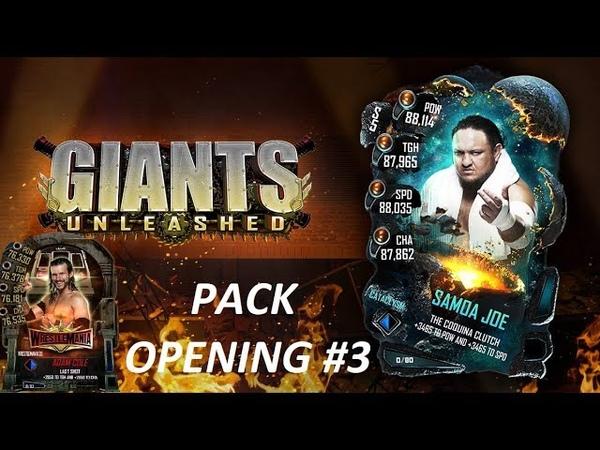 WWE SuperCard Открытие наборов Pack Opening 3 Новый ивент GIANTS UNLEASHED