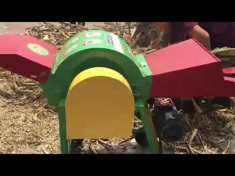 Small Farmed used Green Fodder Stalks Silage Rub Silk Machine