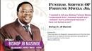 Bishop JB Masinde Powerful Sermon Deliverance Church Zambia Funeral Service for Fortune Mwiza Jr
