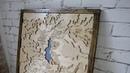 Карта Kaer Morhen и его окрестностей из картона.