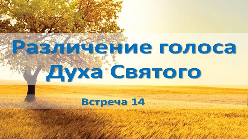Различение голоса Духа Святого (встреча 14) обновленный курс