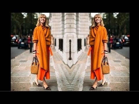 Orange Street Style Outfit, The Fashion Set Selected Colour Of 2019