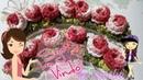 Botão de rosas de crochê